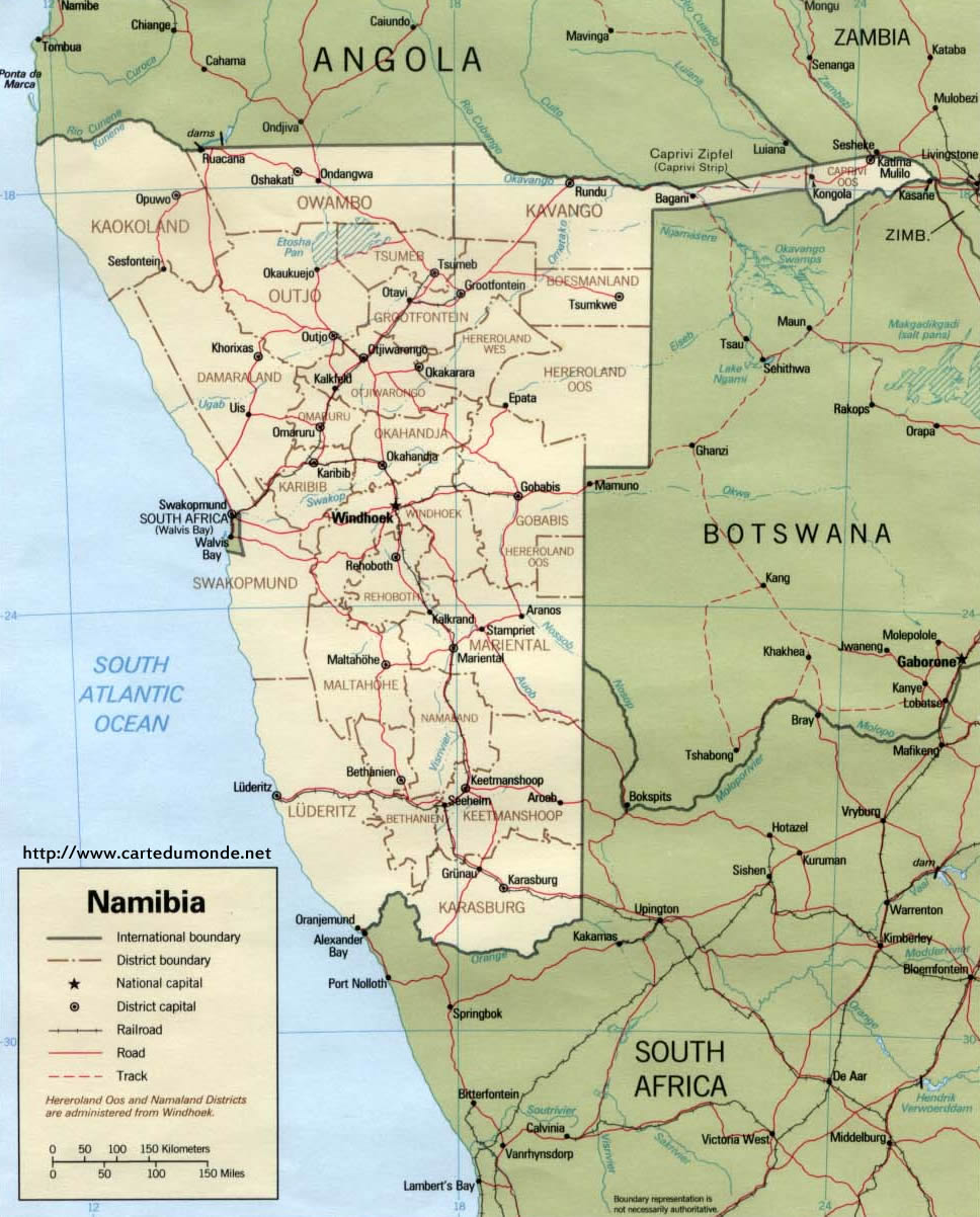 carte-namibie-a-imprimer