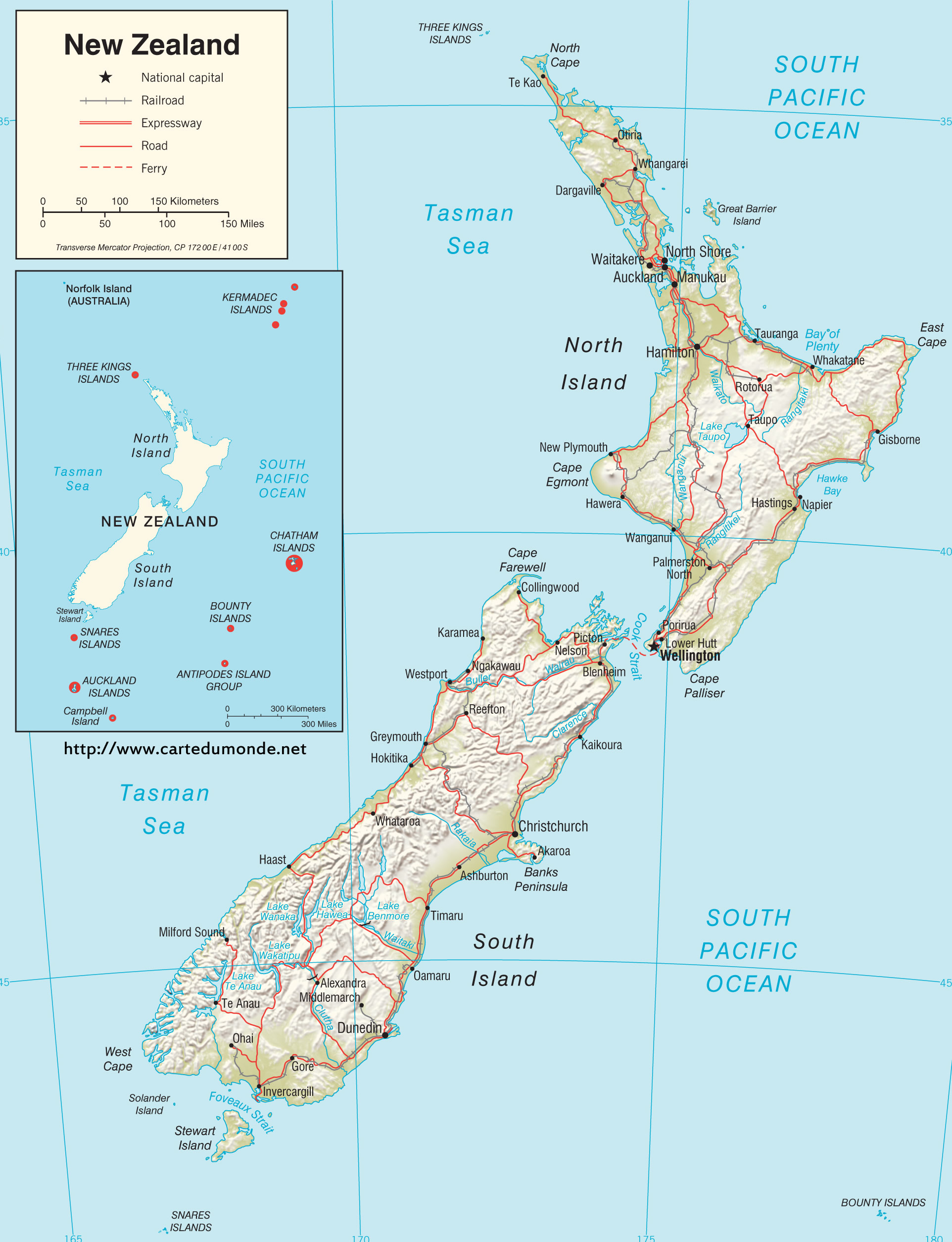 Image of: Map New Zealand Country Map New Zealand