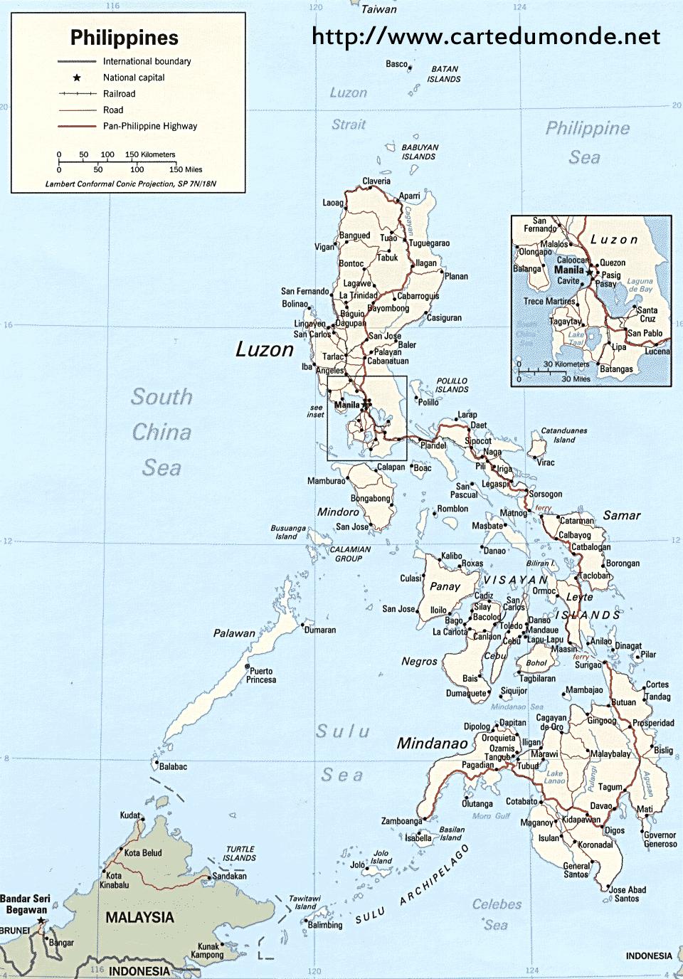Sri Lanka Karte Zum Drucken.Karte Philippinen Karte Auf Land Philippinen