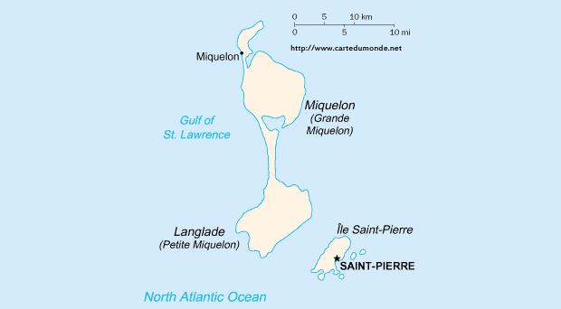Duży mapa Saint Pierre i Miquelon