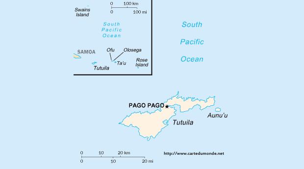 Map American Samoa, Country Map American Samoa