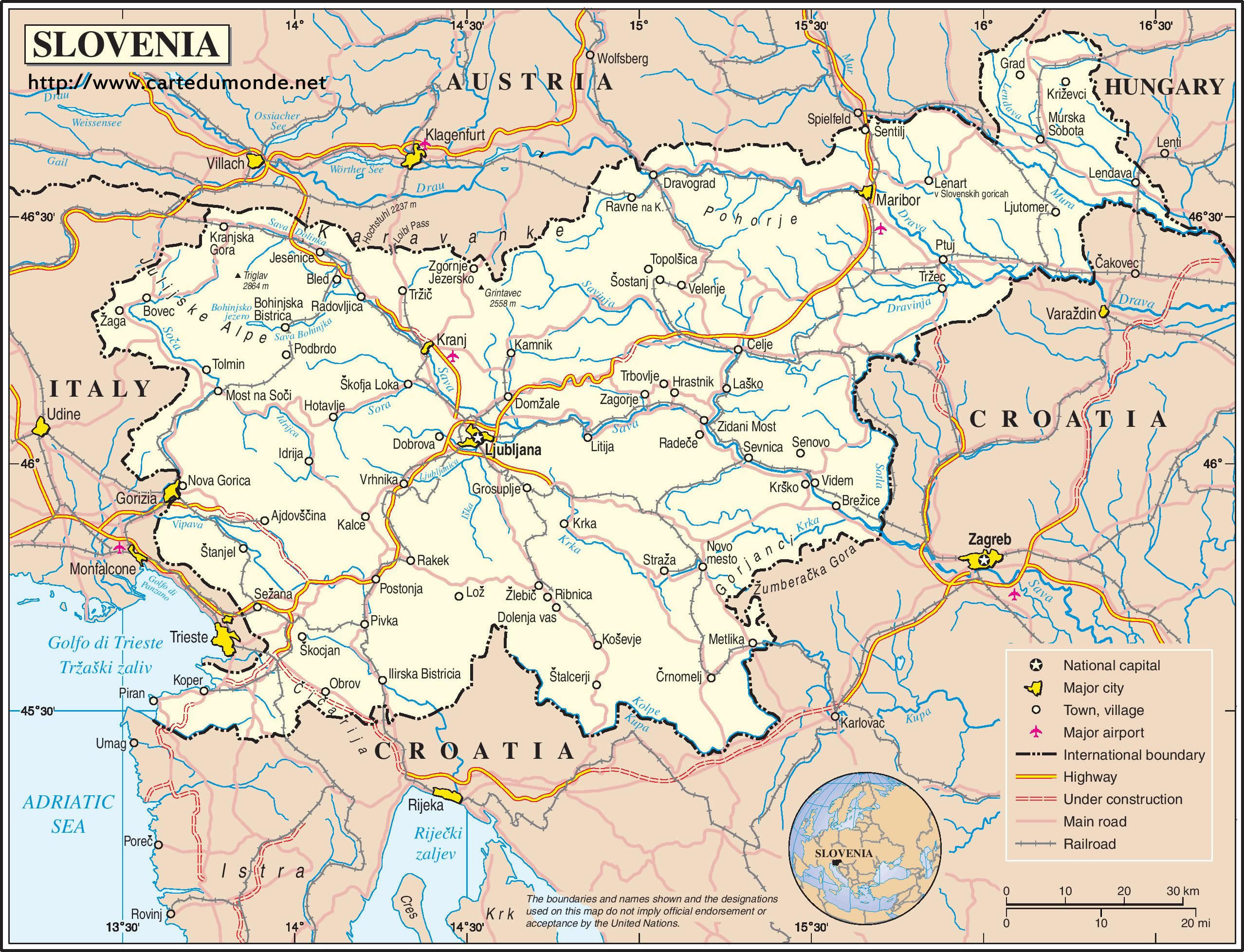 Picture of: Map Slovenia Country Map Slovenia