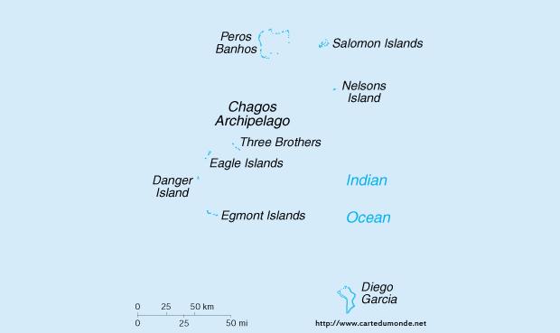 Karte vergrößern Britisches Territorium's im Indischen Ozean