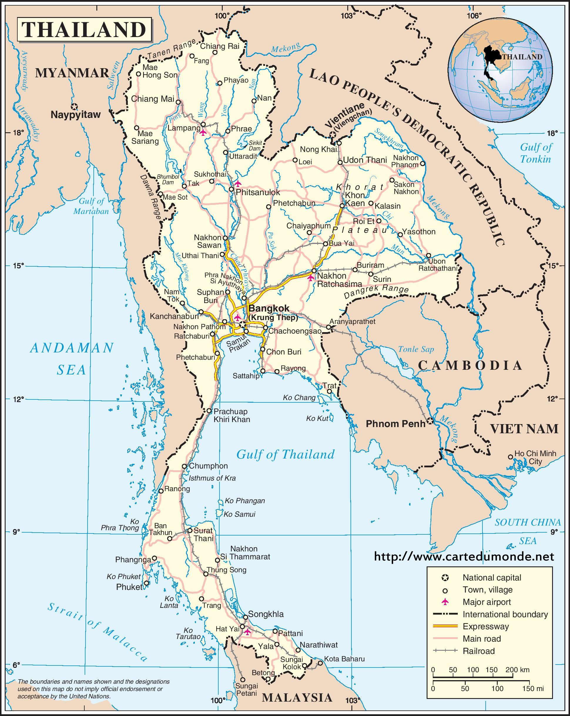 Sri Lanka Karte Zum Drucken.Karte Thailand Karte Auf Land Thailand
