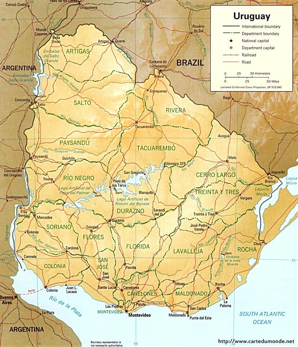 Karte vergrößern Uruguay