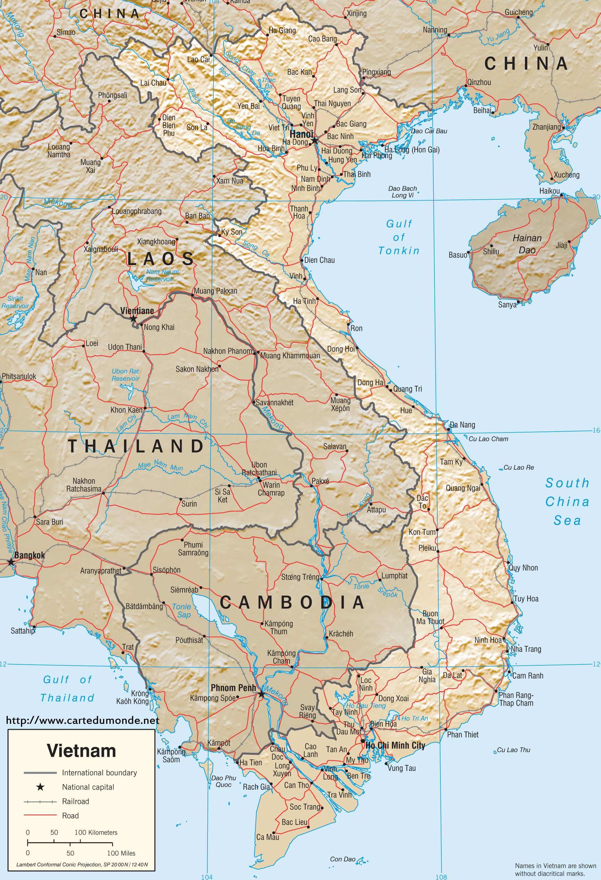 Map Vietnam Country Map Vietnam