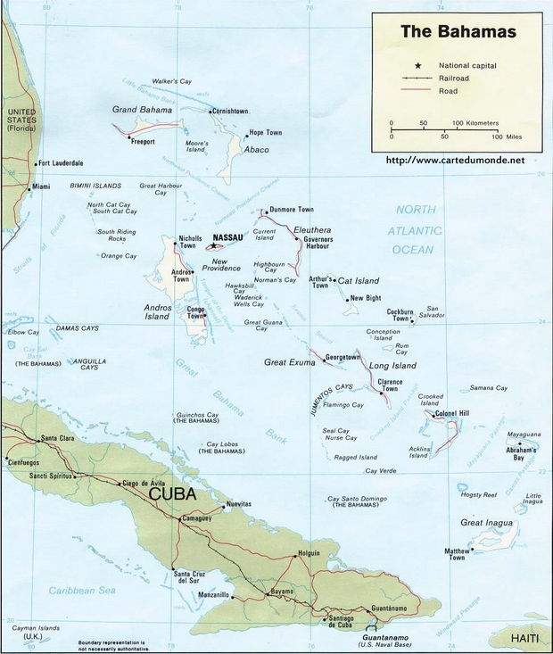 Mapa Bahamas