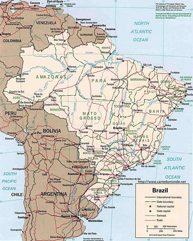 Mapa Brazylia