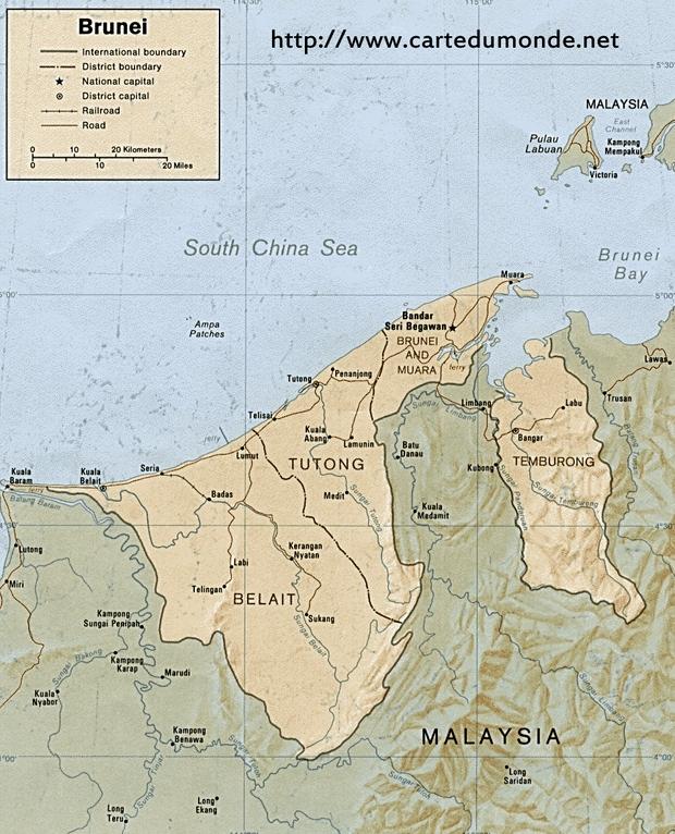 Karte Brunei