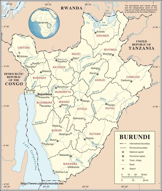 Carte Burundi