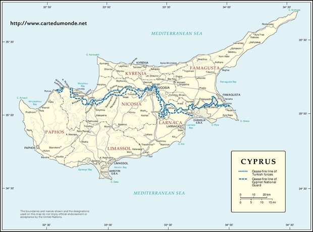 Map cyprus country map cyprus map cyprus publicscrutiny Gallery