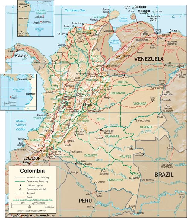 Karte Kolumbien