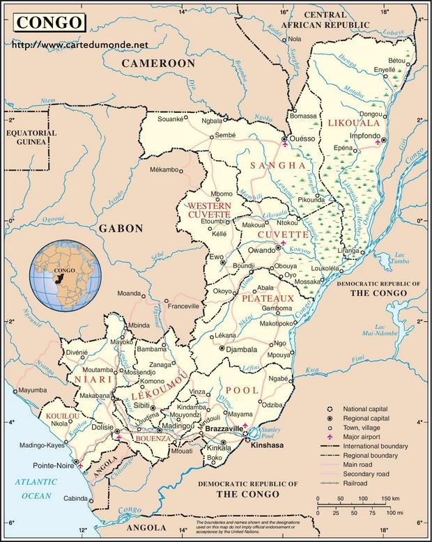 Map Congo
