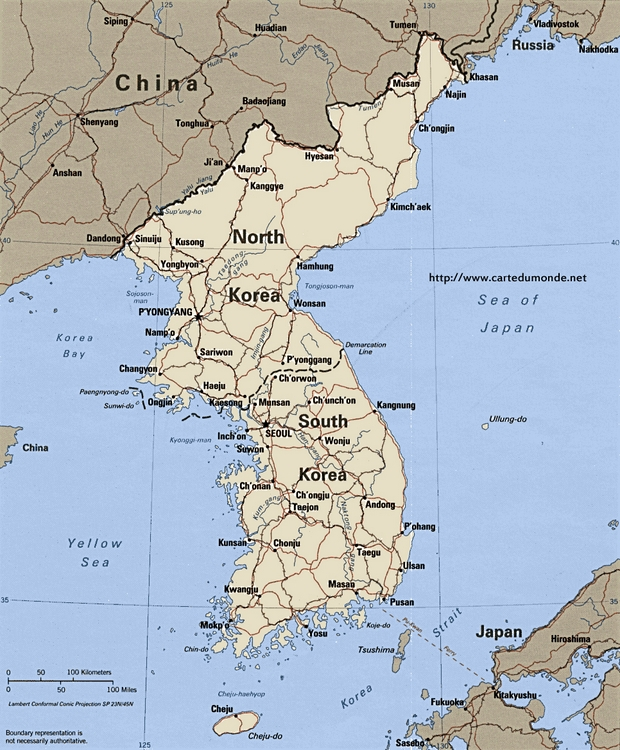 Map South Korea Country Map South Korea