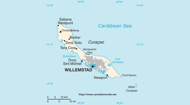 Mapa Curacao