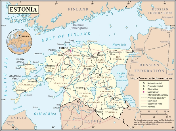 Kaart Estland
