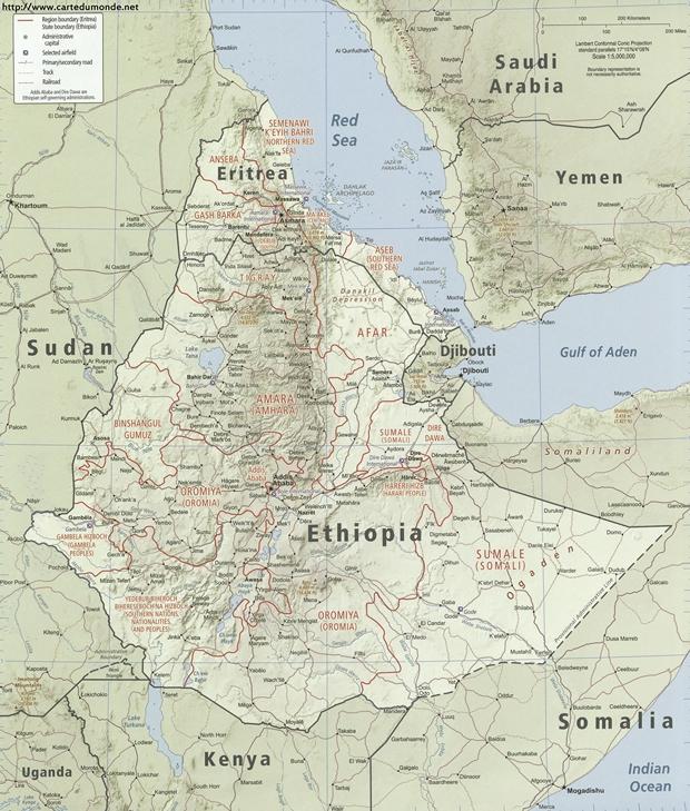 Mapa Etiopía