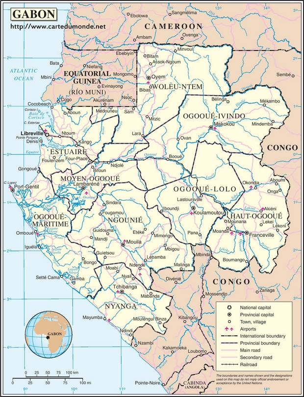 Map Gabon
