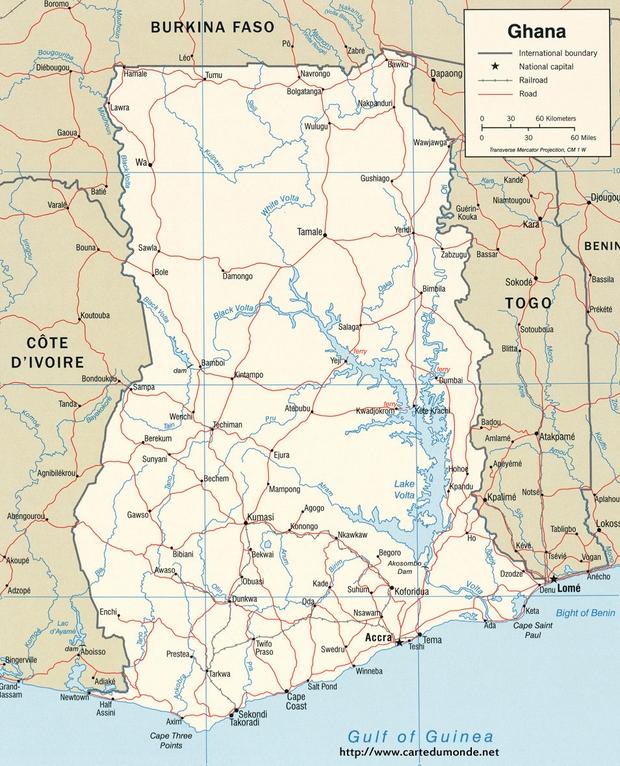Karte Ghana