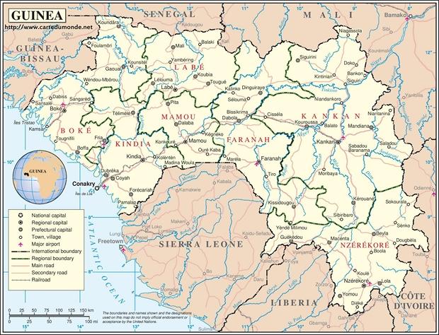 Mapa Guinea