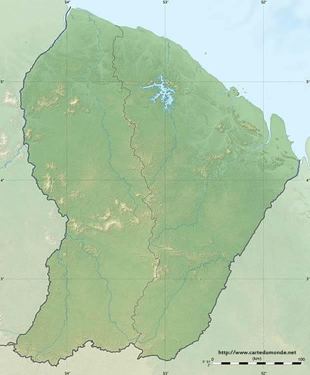 Carte Guyane