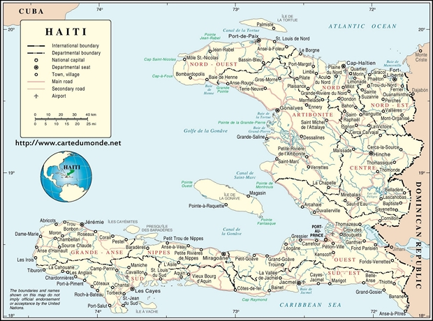 Carte Haiti.Map Haiti Country Map Haiti