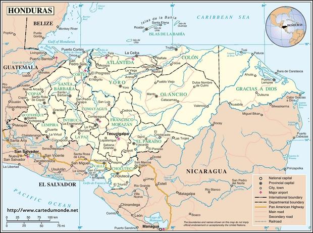 Carte Honduras