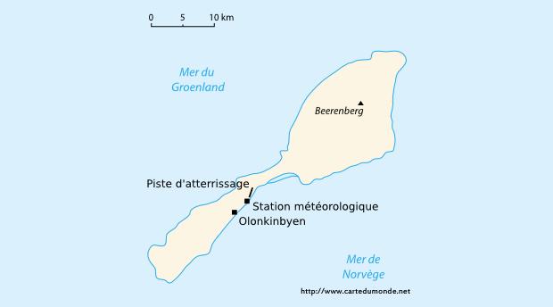 Map Svalbard and Jan Mayen