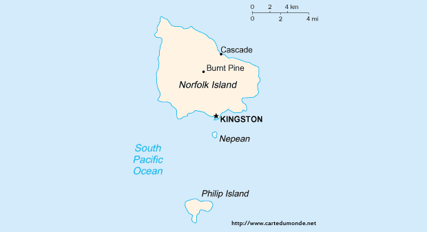 Map Norfolk Island