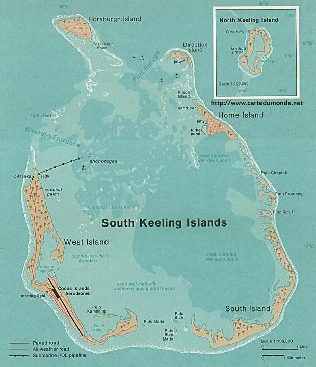 Carte Îles Cocos