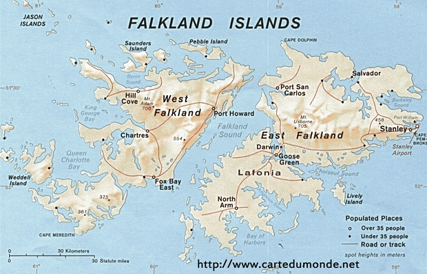 Map Falkland Islands