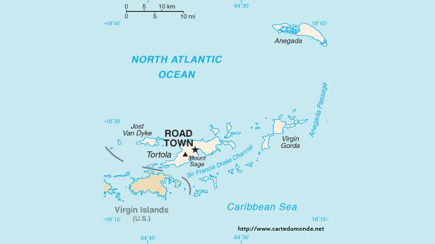 Mapa BVI