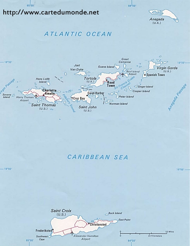 Map United States Virgin Islands