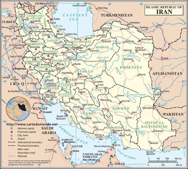 Carte Iran