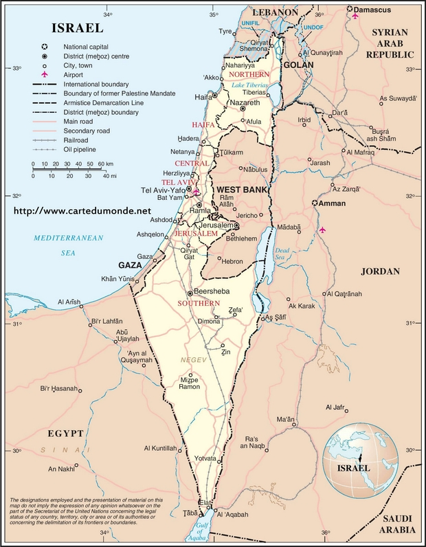 Map Israel Country Map Israel