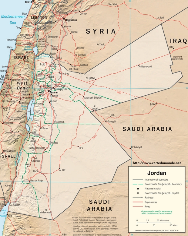 Map Jordan