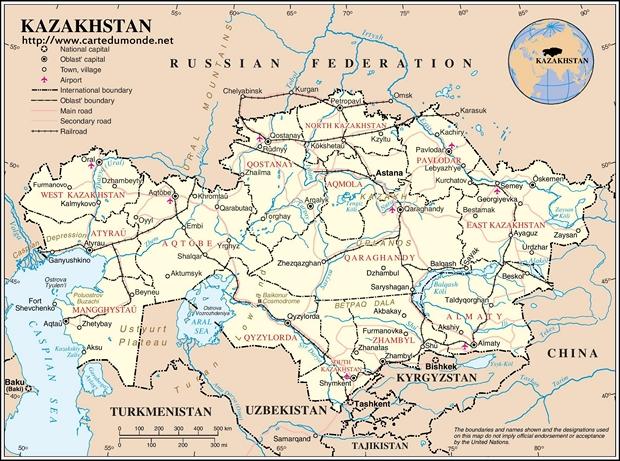 Karte Kasachstan