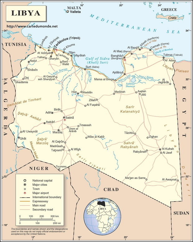 Map libya country map libya map libya gumiabroncs Image collections
