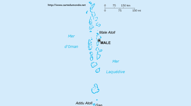 Map Maldives