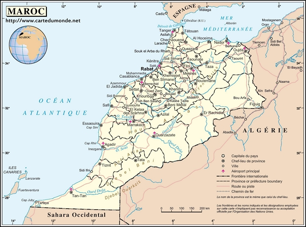 Map Morocco
