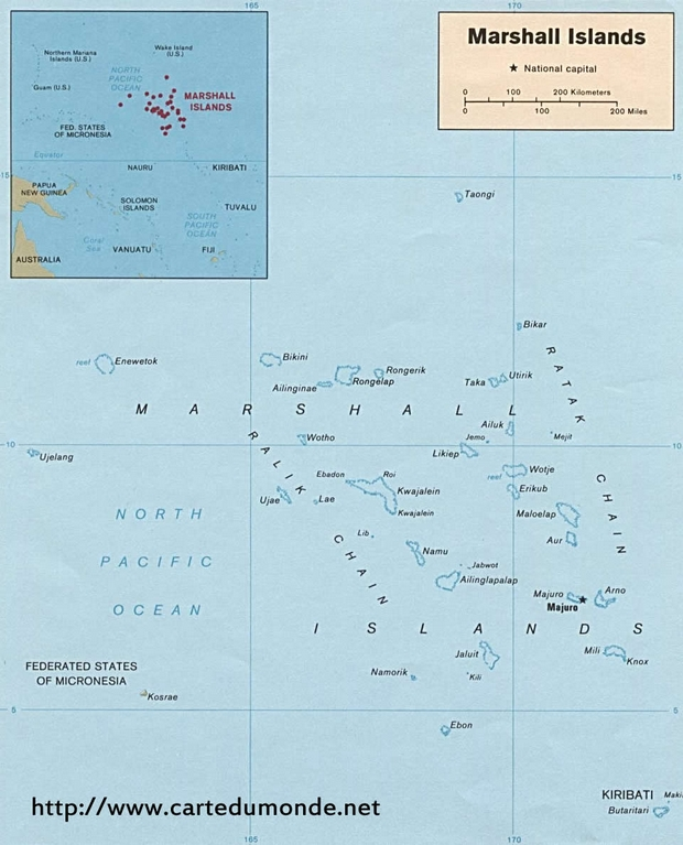 Karte Marshall