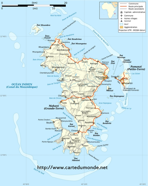 Map Mayotte