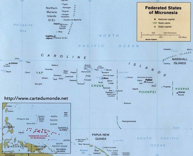 Mapa Micronesia