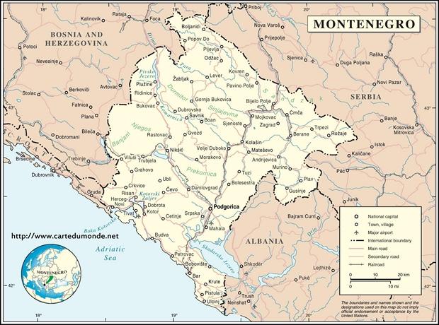 Karte Montenegro