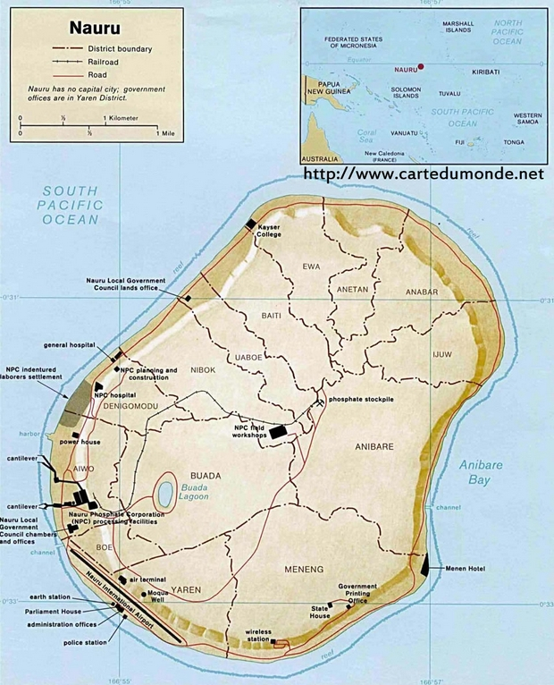 Mapa Nauru