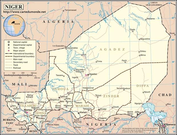 Carte Niger
