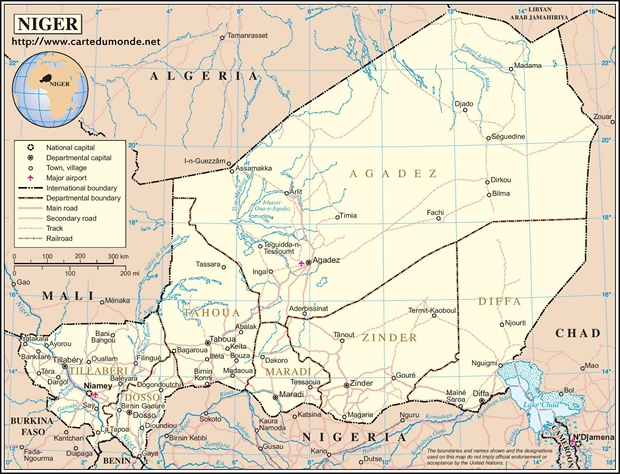 Mapa Niger