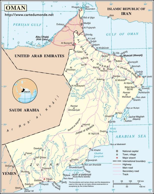 Kaart Oman