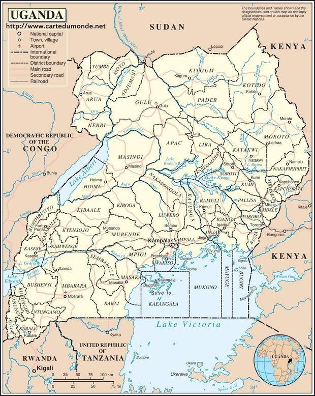 Map Uganda Country Map Uganda