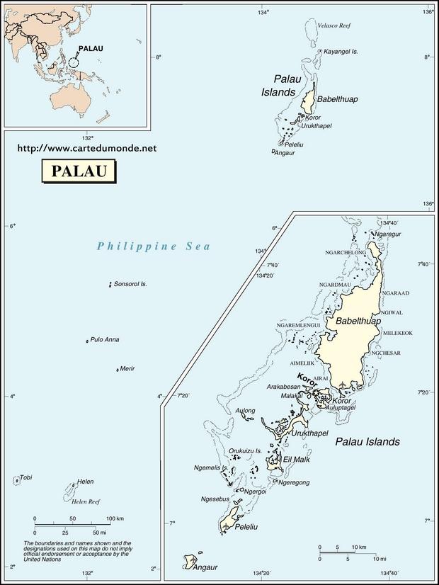 Karte Palau